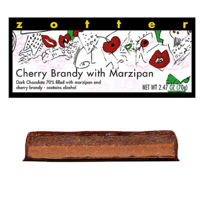 Zotter - Cherry Brandy with Marzipan - Hand-Scooped Chocolate
