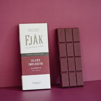 Bean-to-Bar White Chocolate - Fjak Blackcurrant Pie | Online Chocolate