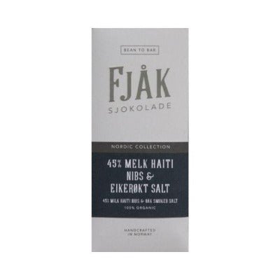Bean-to-Bar Milk Chocolate - Fjak Smoked Salt | Craft Chocolate
