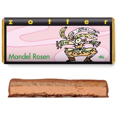 Almond Roses Chocolate Bar by Zotter | Chocolate Gift Online