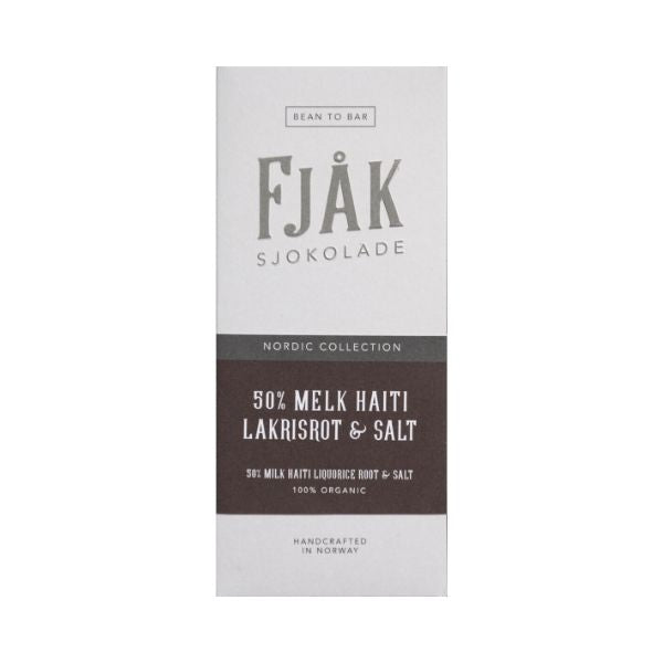 Fjåk - Milk Chocolate - Liquorice Root 50%