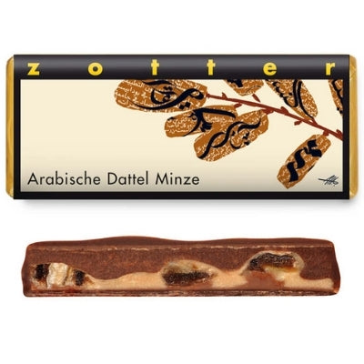 Arabian Dates and Mint Chocolate Bar | Zotter Chocolate | Chocolate Delivery