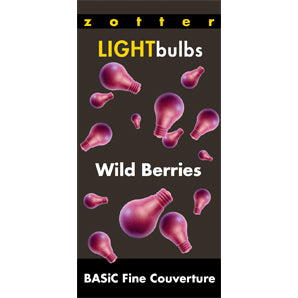 chocolate chips | zotter light bulbs wild berries