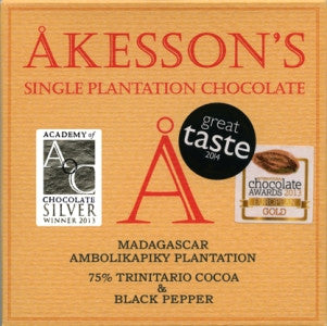 Akesson's Madagascar Black Pepper 75% - Best Chocolate 2016 - HelloChocolate®- Akesson's