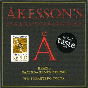Akesson's Chocolate - Brazil 75% - Best Dark Chocolate 2016. - HelloChocolate®- Akesson's