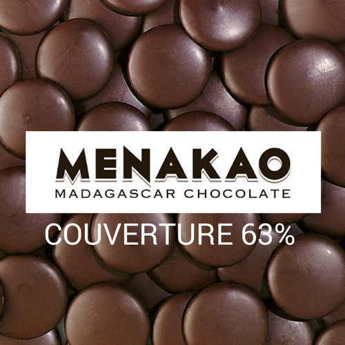 Menakao Couverture 63% - Baking Chocolate 2,5KG - HelloChocolate®- Menakao