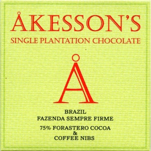 Akesson's Brazil Coffee Nibs 75% - Best Chocolate 2016 - HelloChocolate®- Akesson's