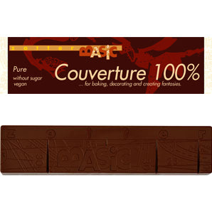 Zotter Baking Chocolate 120 g - Dark Unsweetened Couverture Pure 100%
