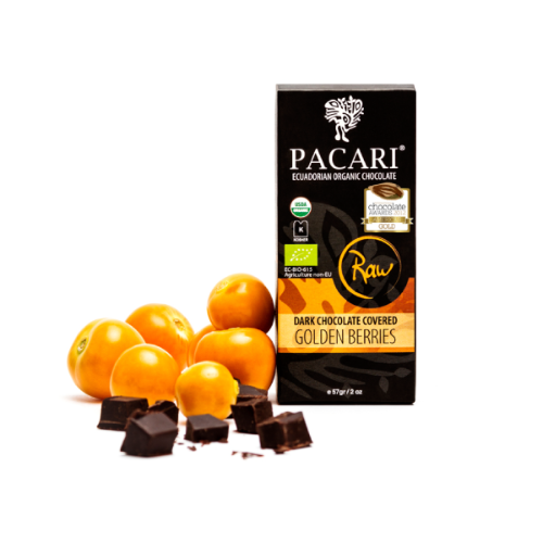 Golden Berries in Chocolate - Pacari | Hello Chocolate