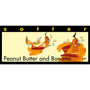 chocolate brands | zotter peanut butter & banana