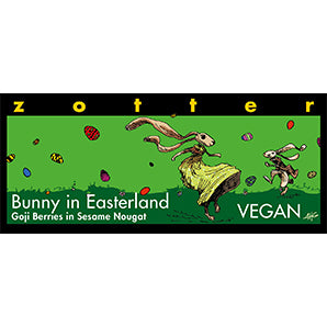 Zotter Easter Gift Bunny in Easterland - Hand-Scooped Chocolate