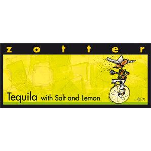 Zotter  - Hand-Scooped Chocolate - Tequila with Salt & Lemon (Contains Alcohol)