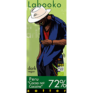 "Labooko - Dark Chocolate - Peru ""Cocoa Not Cocaine"" 72%"