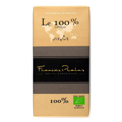 Pralus - No-Sugar Dark Chocolate - Le 100%