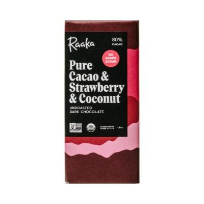 raaka no sugar chocolate strawberry & coconut | vegan chocolate online store