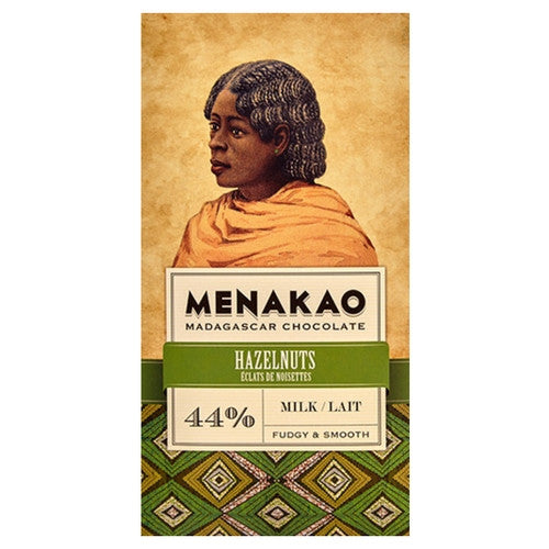 Menakao Chocolate -  Milk With Hazelnuts 44% - HelloChocolate®- Menakao