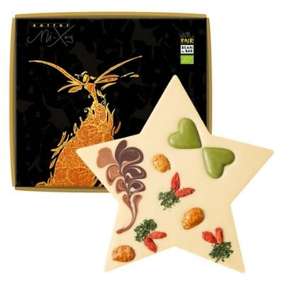 Vegan Christmas Chocolate Gift - Zotter Star with Hemp Praline | Hello Chocolate Singapore