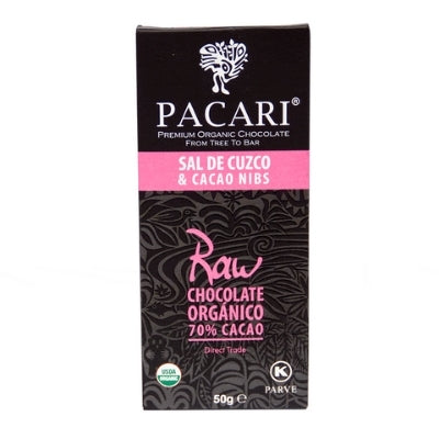 Raw Chocolate - Pacari Pink Salt & Nibs 70% | Singapore Chocolate Delivery
