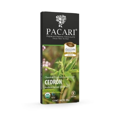 pacari dark chocolate with lemon verbena | chocolate gifts delivery