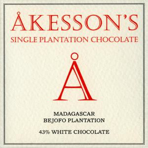 Akesson's Chocolate - Madagascar 43% White Chocolate - HelloChocolate®- Akesson's