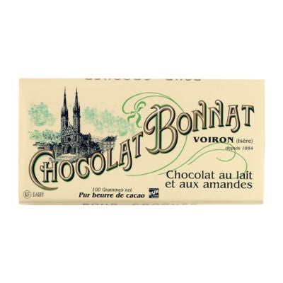 Bonnat - Milk Chocolate - Almonds, 55% | Best Chocolate in Singapore
