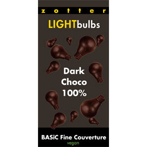Couverture Chocolate  - Zotter Light Bulbs 100% | Baking Chocolate