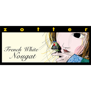 Zotter - French White Nougat - Hand-Scooped Chocolate | Best Chocolate Singapore