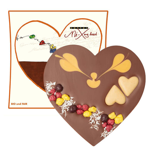 Chocolate Heart  - Zotter Caramel Praline | Unique Chocolate Gift