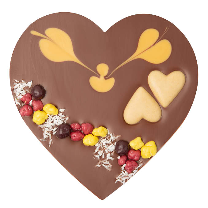 Chocolate Heart  - Caramel Praline | Chocolates Delivery Singapore