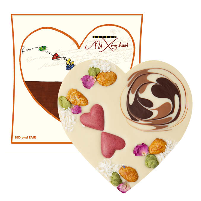 Chocolate Heart  - Zotter VEGAN Praline  |  Best Chocolate Online
