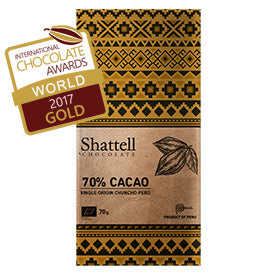 Shattell - Cuzco Chuncho 70% Best Dark Chocolate 2017