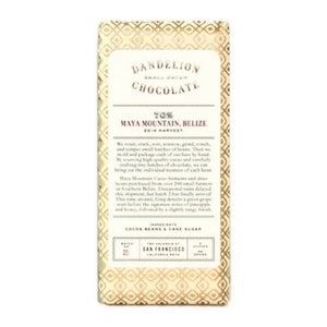 Dandelion - Maya Mountain Belize 70% Dark Chocolate