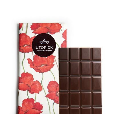 dark chocolate with macadamia | utopick