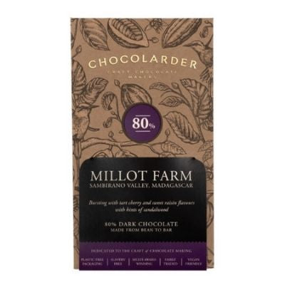 Dark Chocolate - Chocolarder Millot Farm 80% | Hello Chocolate