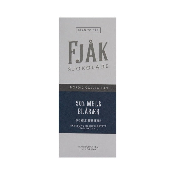 Fjåk - Milk Chocolate - Blueberry 50%