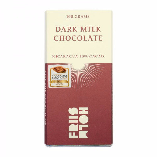 Friis Holm Chocolate - Dark Milk Nicaragua 55% - HelloChocolate®- Featured Products