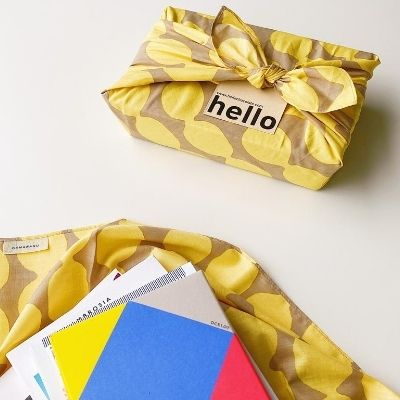 Customised Chocolate Gift - Furoshiki Lemon |  Order Chocolate Gifts Onine