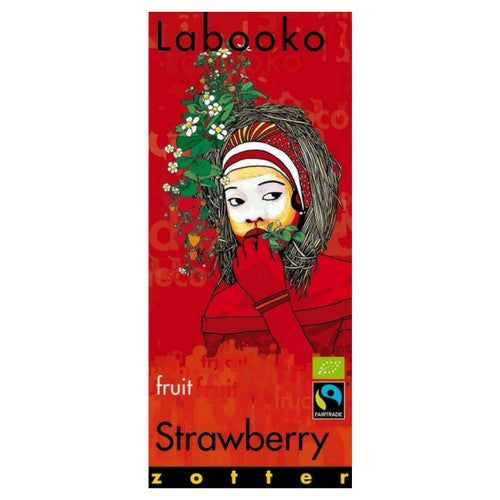 White Chocolate - Labooko Strawberry | Chocolate for Friends