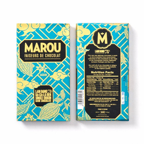 Marou Lam Dong 74% Single Origin Dark Chocolate - HelloChocolate®- Marou