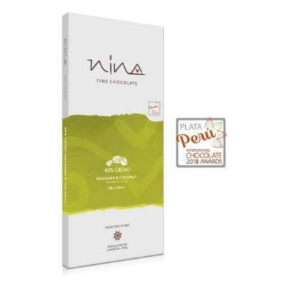 Nina - Dark Chocolate - 45% with Macambo & Coconut