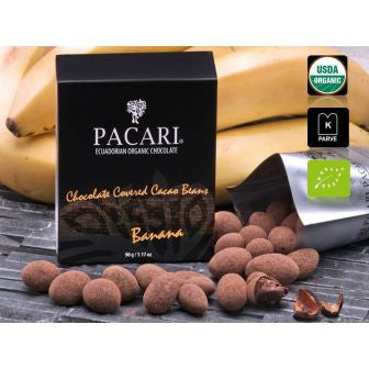 Pacari Chocolate Covered Cacao Beans - Banana Flavor - HelloChocolate®- Pacari