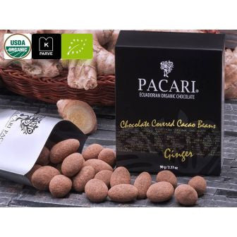 Pacari Chocolate Covered Cacao Beans - Ginger Flavor - HelloChocolate®- Pacari