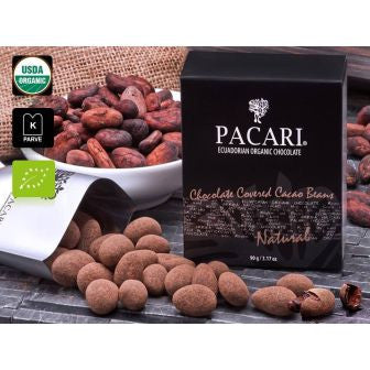 Pacari Chocolate Covered Cacao Beans - Natural Flavor - HelloChocolate®- Pacari