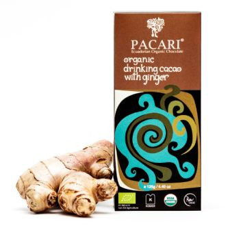 Pacari Drinking Chocolate Powder With Ginger - HelloChocolate®- Pacari