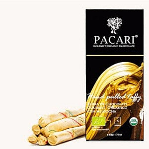 dark organic chocolate with caramel, pacari chocolate