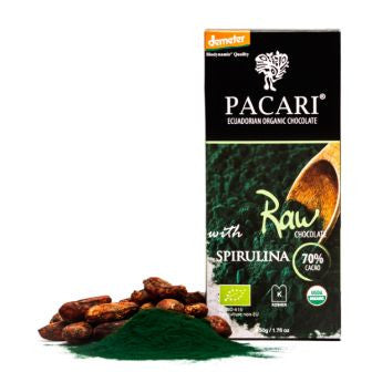 Pacari Raw Chocolate 70% With Spirulina - HelloChocolate®- Pacari