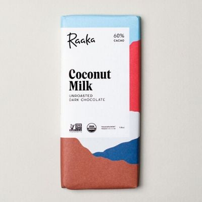 raaka - raw chocolate - coconut milk | chocolate delivery