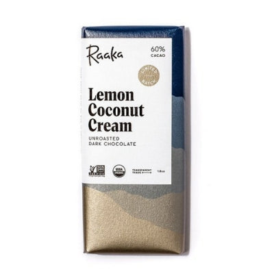 best bean-to-bar chocolate | raaka raw chocolate lemon coconut