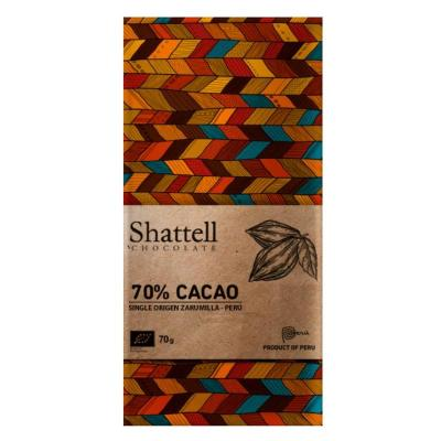 Shattell - Zarumilla 70% Dark Chocolate