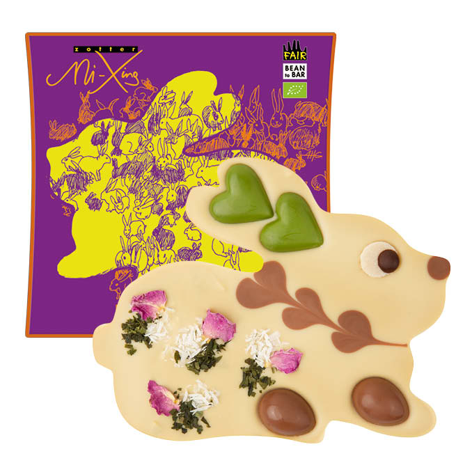 Zotter - Chocolate Easter Bunny VEGAN with Praline Centre